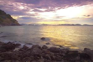 spiaggia la mattina foto
