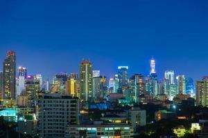città di bangkok di notte
