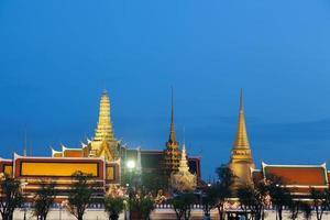 Wat Phra Kaew a Bangkok di notte