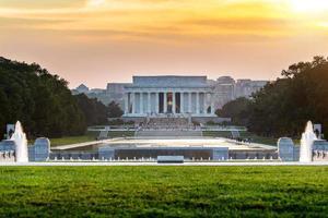 Memoriale di Lincoln a Washington DC, Stati Uniti d'America foto