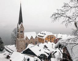 vista panoramica di una chiesa a salisburgo, austria foto