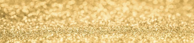 banner glitter oro