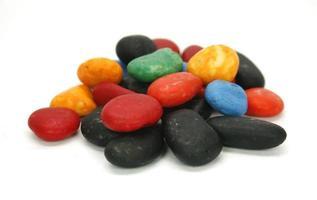 mucchio colorato di pietre