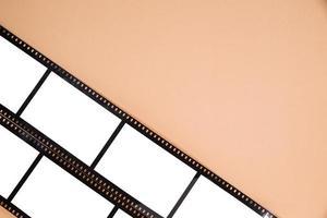 vista dall'alto della vecchia striscia di pellicola