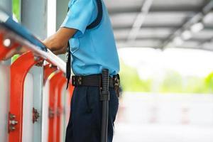 guardia di sicurezza all'esterno foto