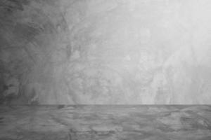 muro di cemento grigio e sfondo camera studio foto