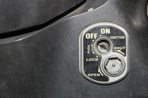 serratura con chiave dell'auto foto