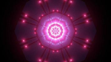 luci colorate e forme caleidoscopio illustrazione 3d per lo sfondo o lo sfondo foto