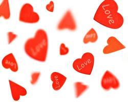 cuori rossi di amore
