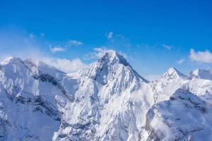 splendida vista panoramica sulle alpi svizzere