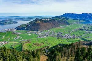 vista da mt. stanserhorn in svizzera foto