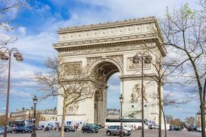 l'arco di trionfo a parigi, francia, 2018 foto