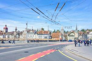 centro storico di luzern, svizzera, 2018