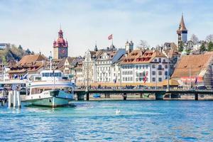 centro storico di luzern, svizzera, 2018 foto