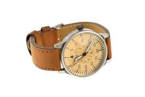orologio da polso analogico con cinturino in pelle