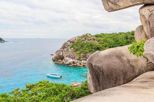 punto di vista all'isola di similan, phuket, tailandia