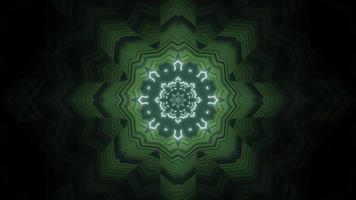 caleidoscopio colorato 3d design illustrazione per lo sfondo o carta da parati foto