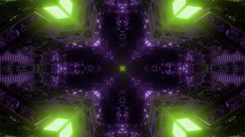 design colorato caleidoscopio illustrazione 3d per sfondo o carta da parati foto
