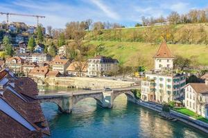 vista del centro storico di Berna in Svizzera foto