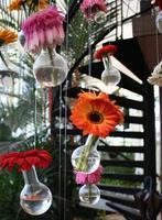 fiori di gerbera in vasi di vetro foto