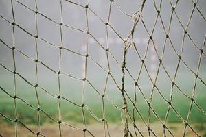 primo piano di rete da calcio