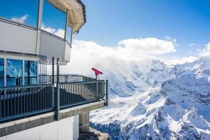 Swiss skyline da schilthorn, svizzera