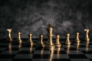 gioco da tavolo scacchi d'oro