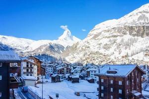 vista del cervino da zermatt in svizzera