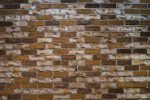 muro di mattoni scuri foto