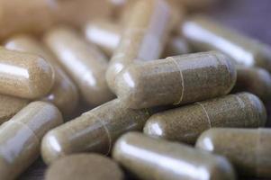 close up capsule di erboristeria foto