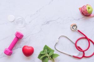 laici piatta del concetto di buona salute foto