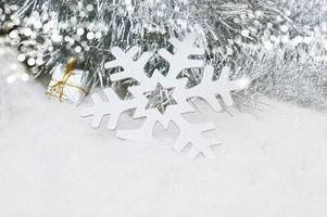 fiocco di neve di Natale nella neve