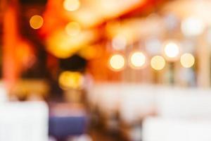 astratto sfondo sfocato ristorante foto