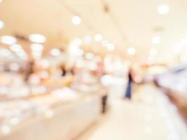 sfocatura astratta e sfondo sfocato centro commerciale foto