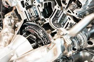 primo piano di un motore