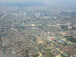 vista del paesaggio urbano di Bangkok