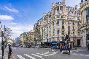 parigi, francia, 9 aprile 2018, edifici residenziali di parigi