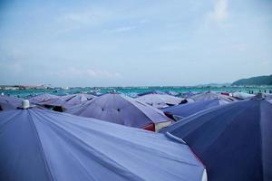 ombrelloni in spiaggia foto