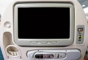 monitor privato nel sedile dell'aereo
