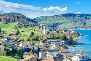 città di brienz sul lago di brienz da interlaken, svizzera