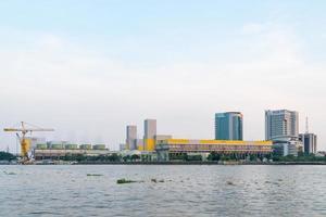 centrale elettrica nella città di bangkok foto