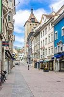vordergasse street a sciaffusa, svizzera, 2018
