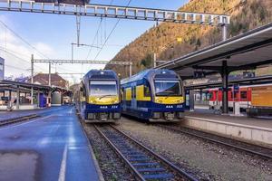Stazione ferroviaria di Grindelwald nella regione della Jungfrau, Svizzera