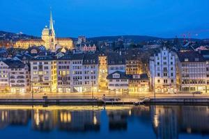 vista di zurigo, svizzera