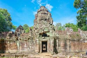 banteay kdei ingresso nel complesso del tempio di angkor wat, siem reap, cambogia