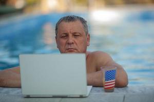 uomo su un laptop