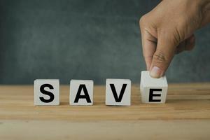 salva la lettura dei blocchi bianchi foto