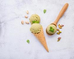 gelato al pistacchio foto