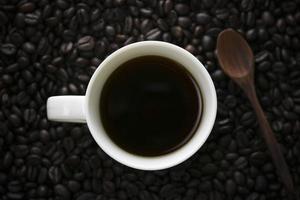 una tazza di caffè dalla vista dall'alto foto