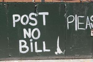 non pubblicare alcun segno di bolletta a New York City foto